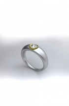Diamantring Weißgold, Gelbgold