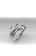 Ring mit Diamantbaguettes